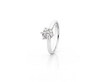 KTJ Signature Solitaire Diamond Engagement Ring