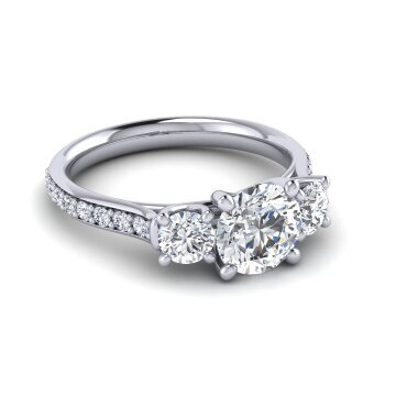 Three Stone Trellis Ring