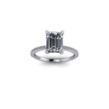 Emerald Cut Solitaire