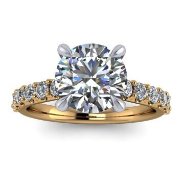 Solitaire with side diamonds